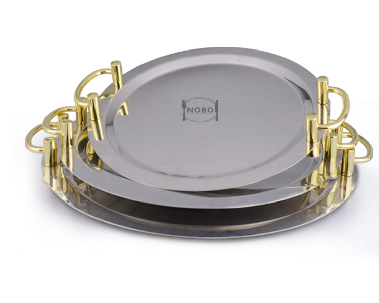 Elegant design mirror finish charger plates