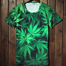 Fashion 3D Five grass print t shirts for party