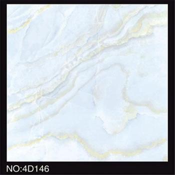 Marble Look Light Blue Ceramic Floor Tiles Non Slip Restaurant Kitchen