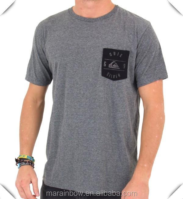 Dark grey heather mens crew neck short sleeve pocket t for Custom t shirts with pockets