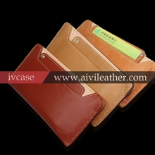 Creative Genuine Leather Wallet Cell Phone Cover For Iphone 6 / Iphone5 Samsung Galaxy S5 / NOTE3 Case Leather With Card Slots