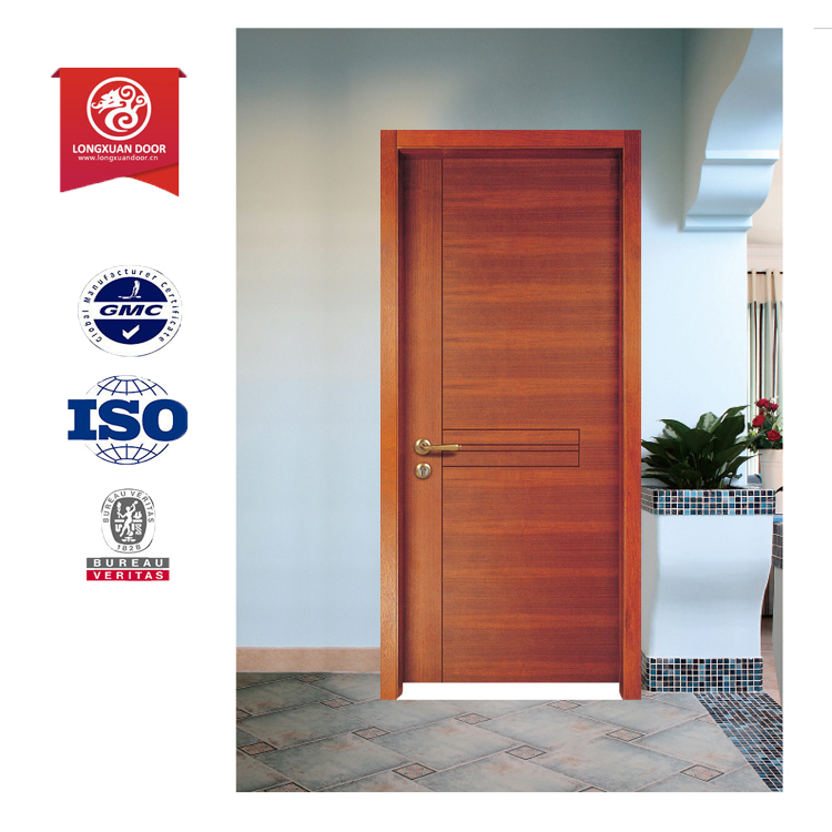 pvc bathroom door design wood veneer door skin door front - Bathroom Doors Design