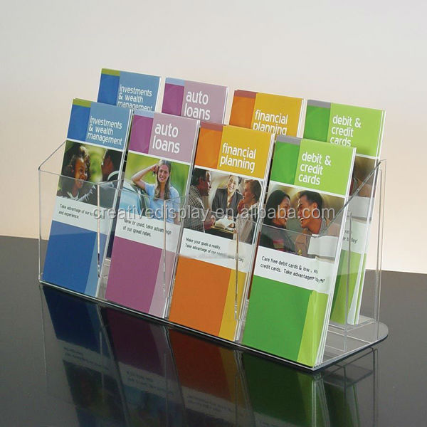 Good Quality Clear Acrylic Brochure Holder Standee - Buy Acrylic ...