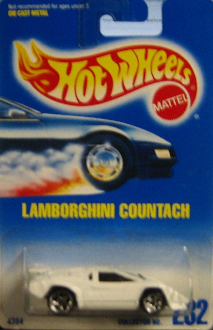 mattel hot wheels lamborghini countach 232 blue card 1991