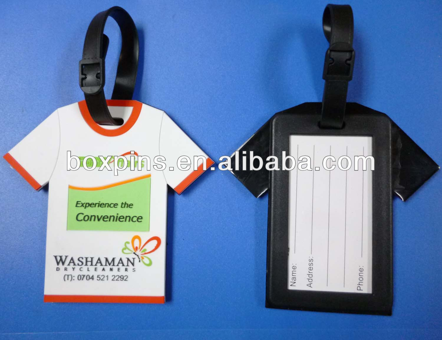 Jersey shaped with custom logo rubber luggage tags T shirt shaped bag tags