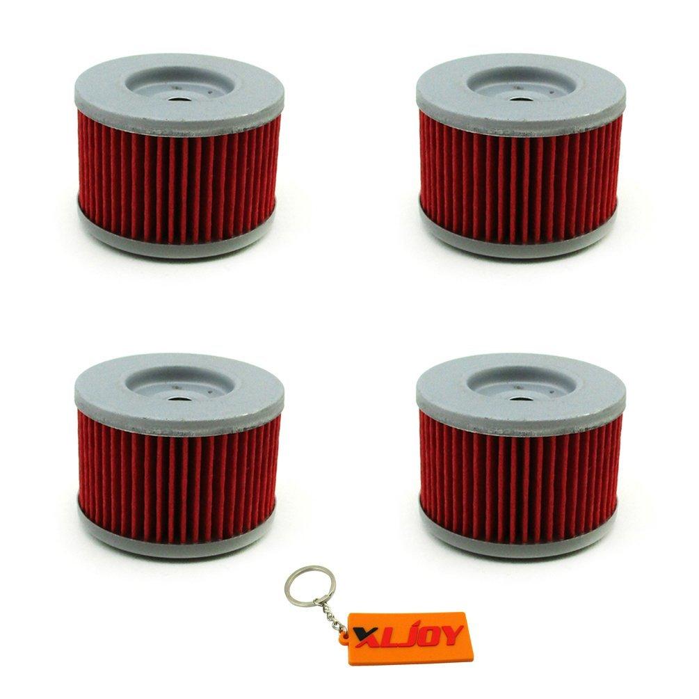 XLJOY 4pcs Oil Filter for Kawasaki KSR110 KLX140 KLX125 KL250 KL250 Honda TRX700 XR650R