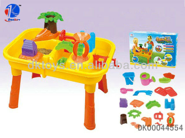 impressionnant th me tropical sable et de l 39 eau activit de table avec plage jouets set pour. Black Bedroom Furniture Sets. Home Design Ideas