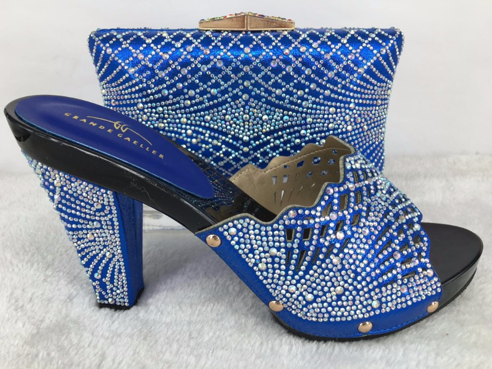 Shinning set party shoes stones dress to the women In wedding match matching Italian and bags wine for rwqrd4E7Xx