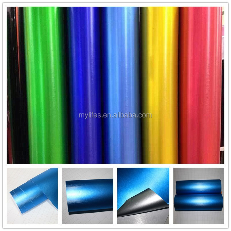 Good Flexibility light blue Brushed Wraps Vehicle Brushed Vinyl Film 1.52*20m Best Price