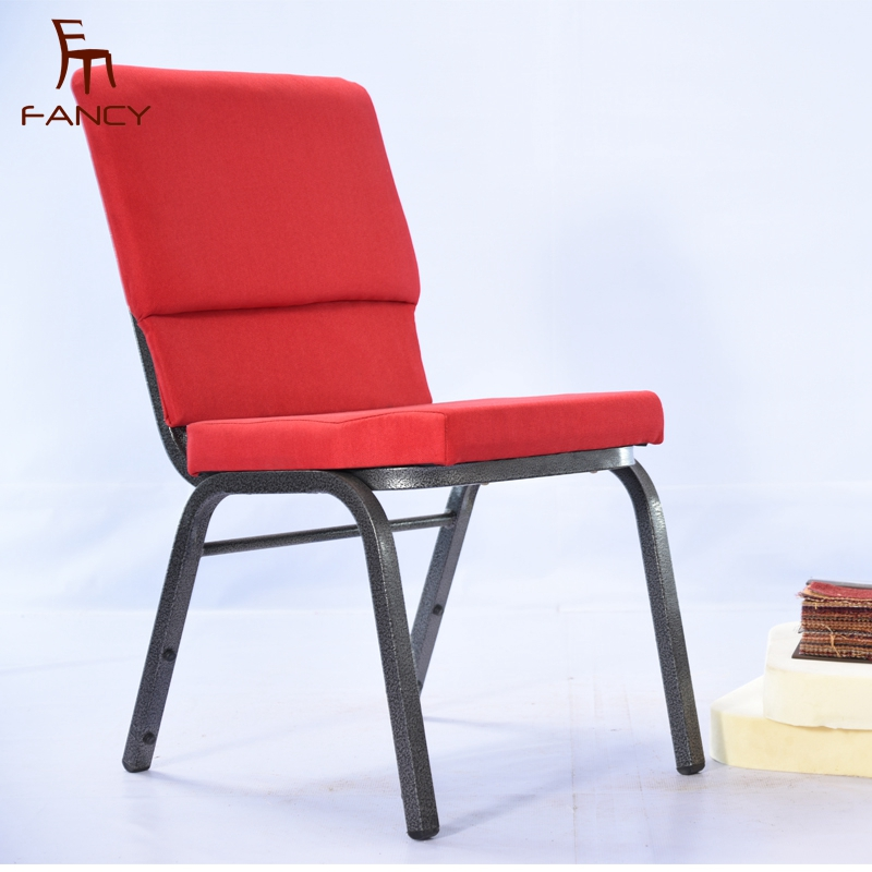 China cheap hotel stacking upholstered church chairs for sale