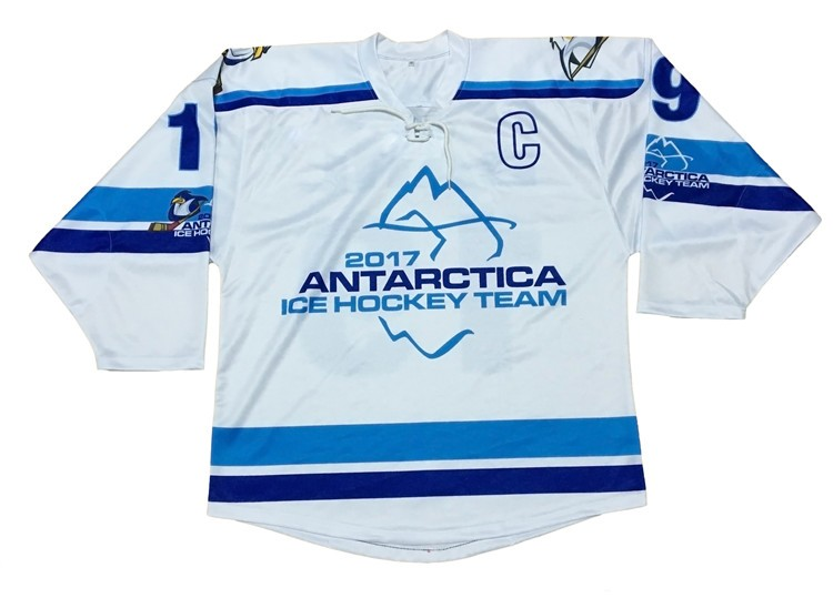 Custom OEM professional 100 polyester sublimation ice hockey wear custom half and half jerseys