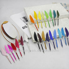 Colorful Mini goose feather ball pen, 2014 hot sale pocket pen