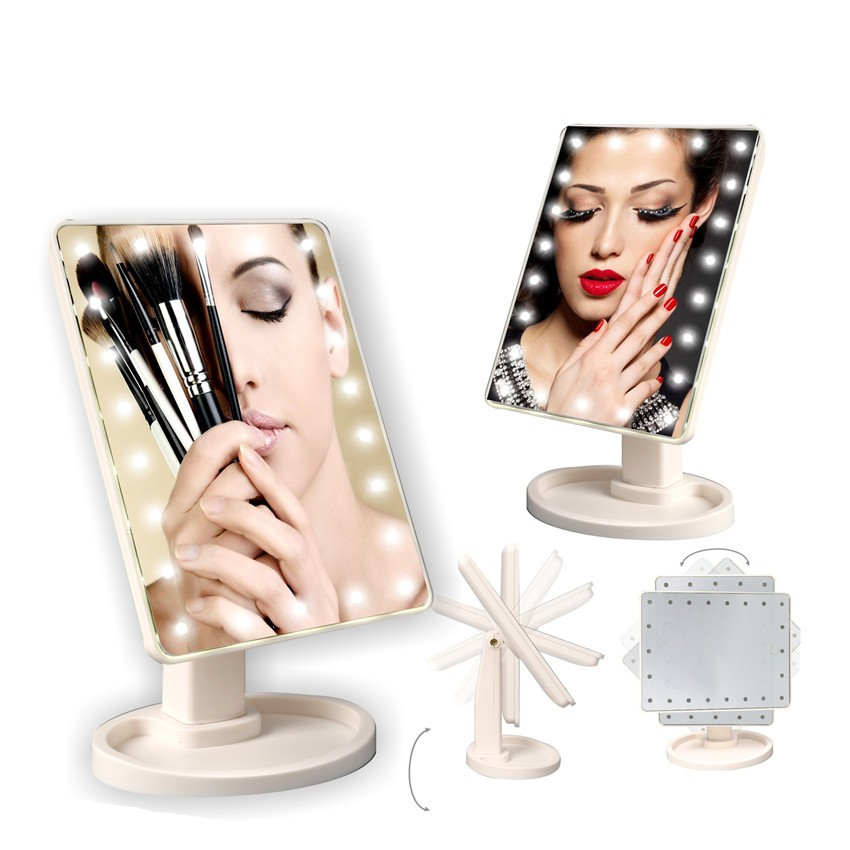 2017 China Manufacturer 22 leds Make-Up Mirror Magnifying with Led Light