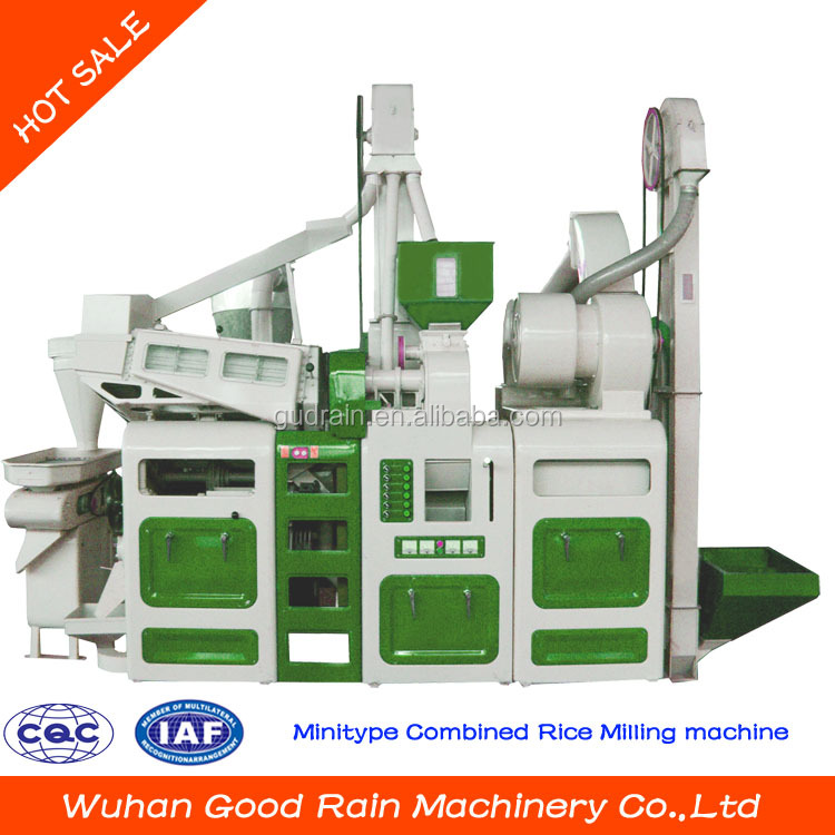 Best selling minitype combined rice milling machine mini rice mill for sale