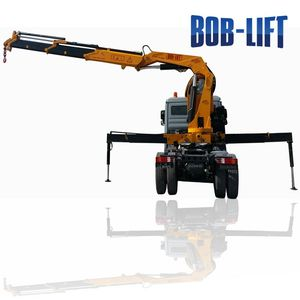 Hydraulic Mobile Crane Tipper Truck with Top Seat on Column