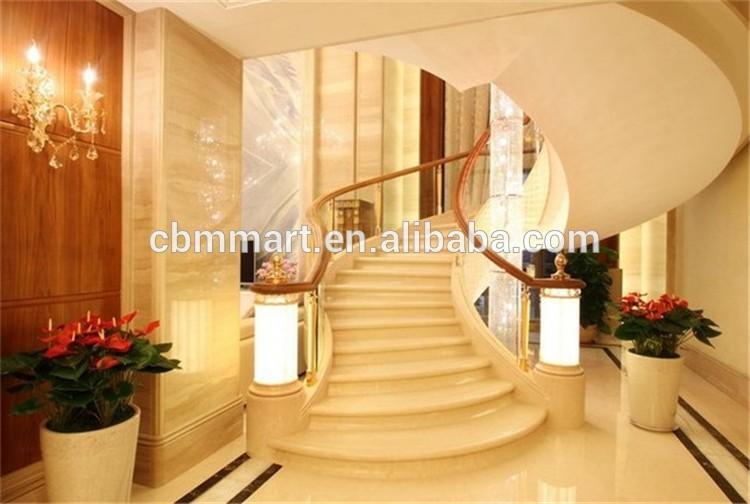 Lujo a medida del color del oro de m rmol de la escalera for Colores de marmol para escaleras