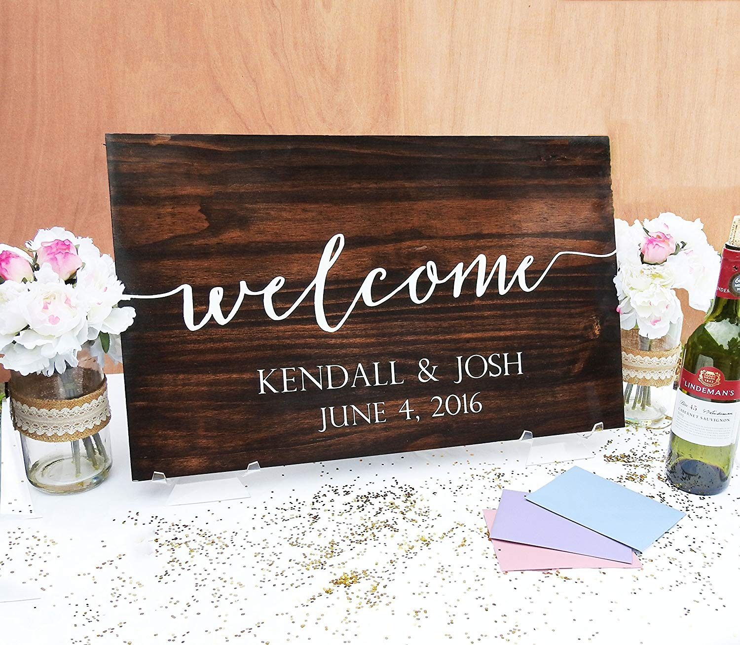 Welcome to Our Wedding Wood Sign, Wedding Sign, Wood sign, Wedding Wood Sign, Wooden Sign, Wedding, Handwritten, Typography, Wedding Decor .sign#172