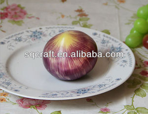 pvc onion vegetables/Simulated onion vegetables and fruits/ Artificial food in arts and crafts