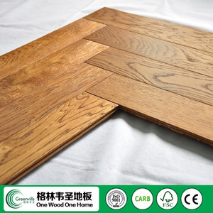 oak timber click Lock 5 finger herringbone parquet flooring