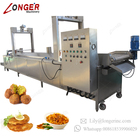 Commercial Automatic Gas Electric Onion Peanut Potato Chips Frying Machine Continuous Deep Fryer With Oil Filter