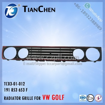 RADIATOR GRILLE for GOLF 1 1974 - 1983 191 853 653 F - 191853653F - 191853653