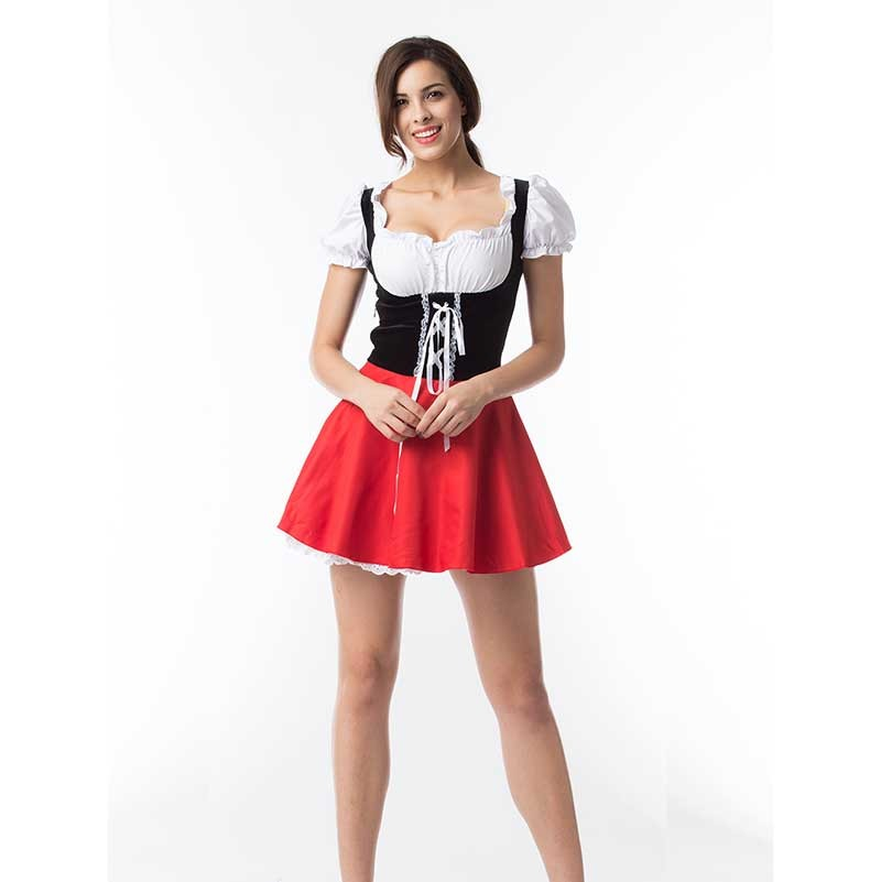 Halloween Sexy Costume Little Red Riding Hood Women Dress Costume