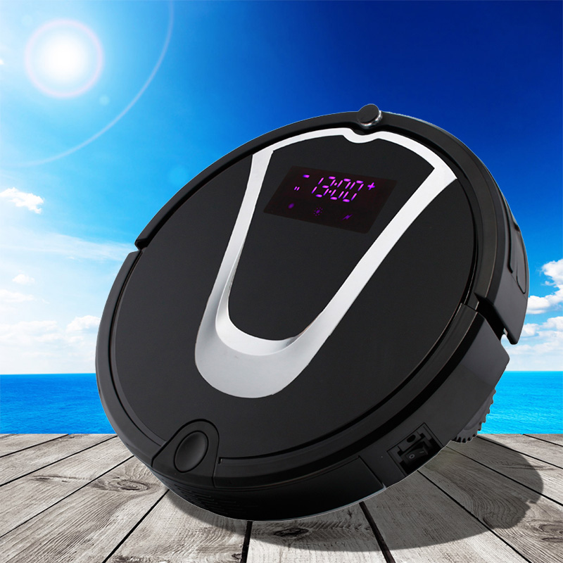 Rechargeable Robotic Vacuum Cleaner Super Mini Room Cleaning Machine Wet Mopping Sweeping Appliance with CE CB GS RoHS
