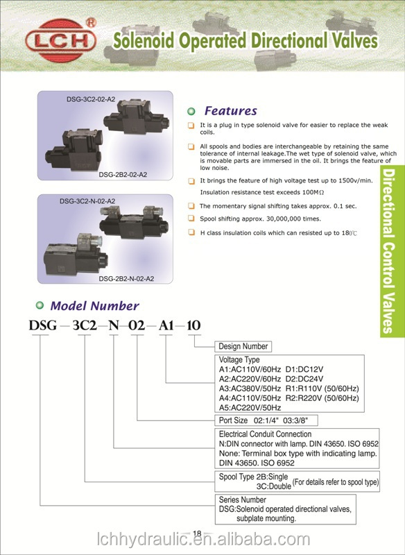 hydraulics 4/2 4we6e hydraulic directional valve