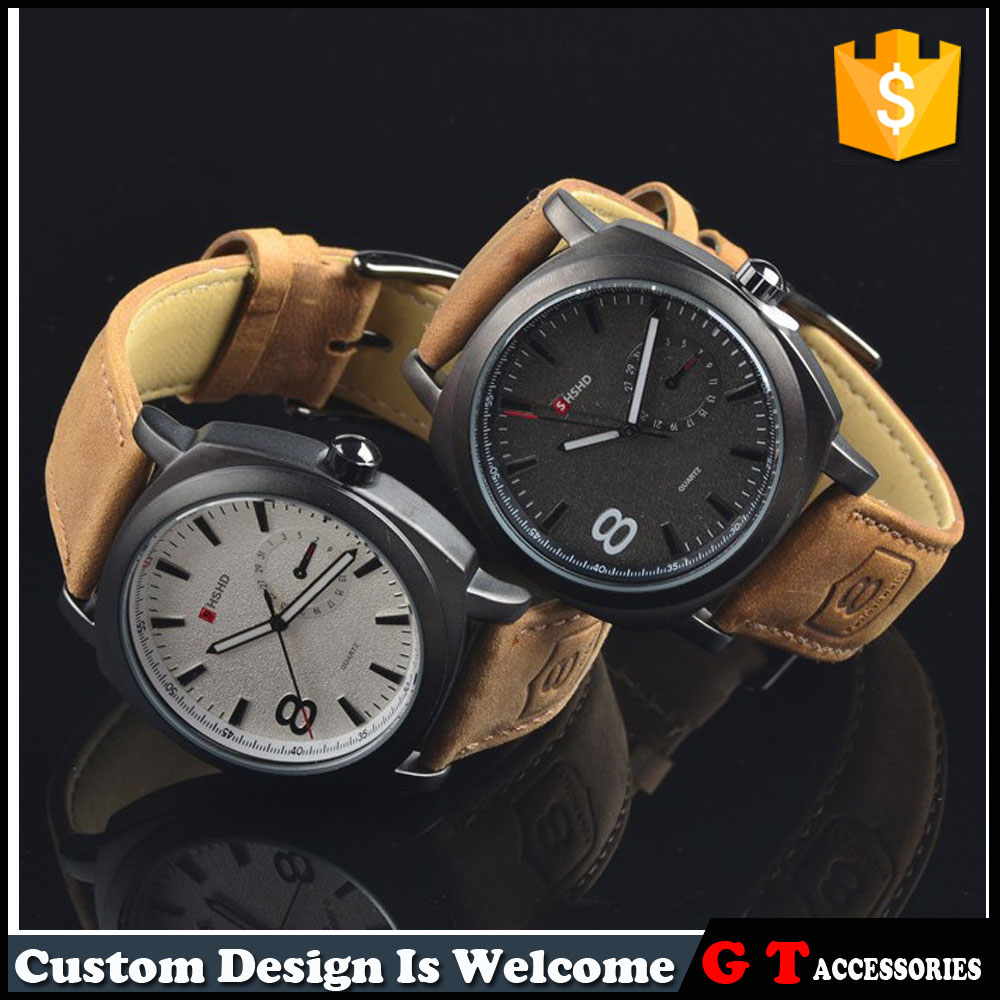 Wholesale Genuine Leather Sports Guys' Design Wrist Watch For <strong>Men</strong>