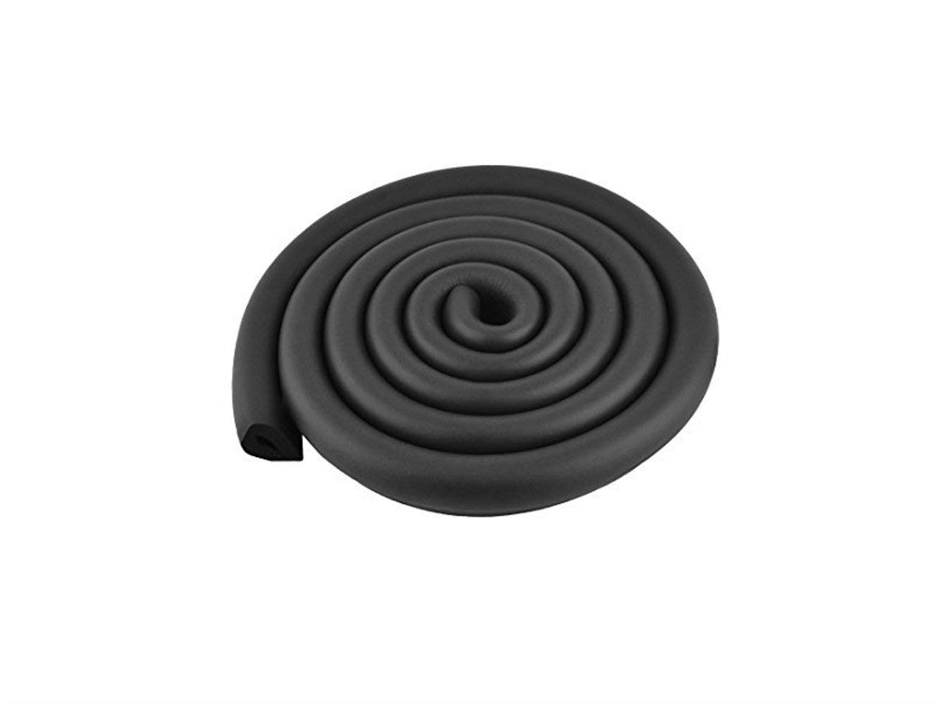 Yuchoi Perfectly Shaped Table Corner Edge Soft Safety Protection Cushion Guard (Black)