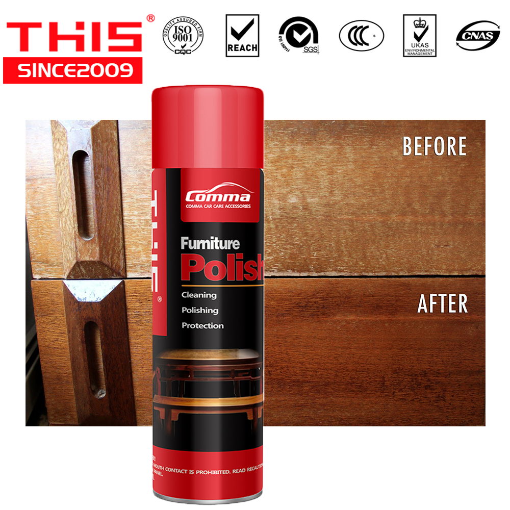 2 In 1 Furniture Care Clean Polish Wax Whole Non Silicone Aerosol Spray Wood