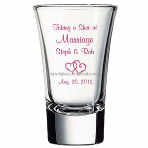 Bar 2oz colored print shot glass tequila shooter glass