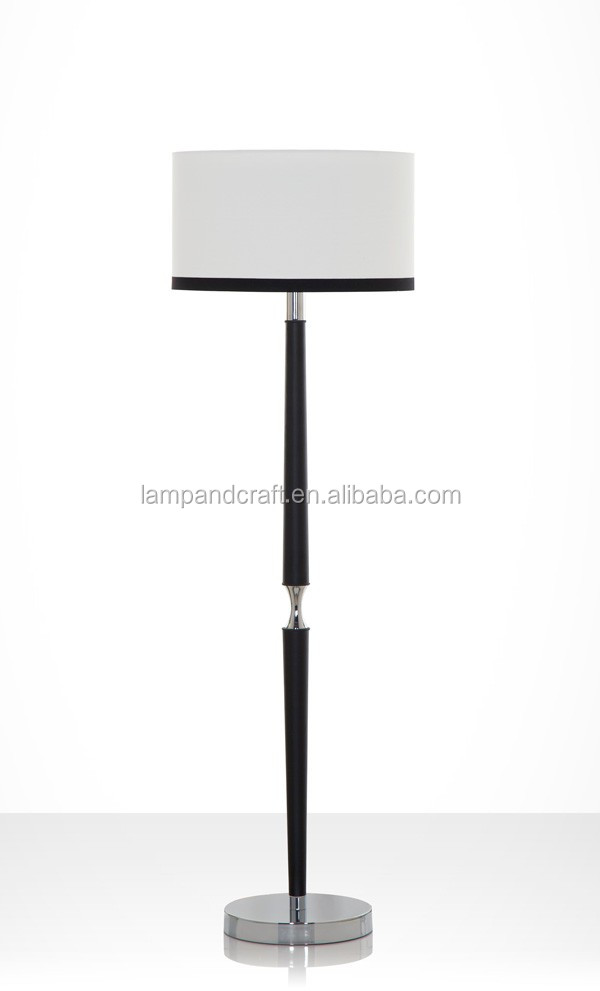 Adjustable Hotel Floor Lamp With Square Lamp Base And Round Fabric ...