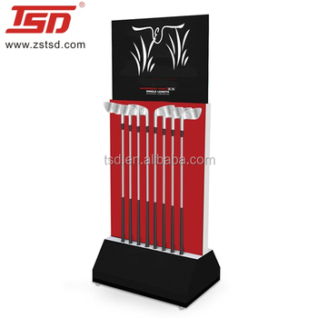 Double Side Golf Display Storage Rack Systems Club Stand