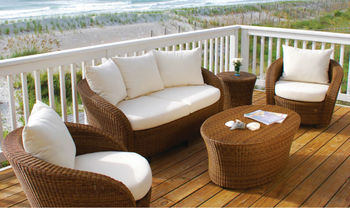Outdoor Patio Furniture Wicker Furniture Set Indoor L Shaped Rattan