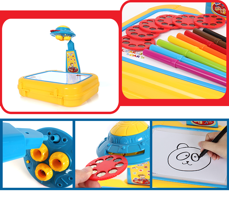 children plastic educational drawing projection desk kids learning toys for sale