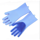 Non-stick silicone rubber finger tips dishwasher gloves