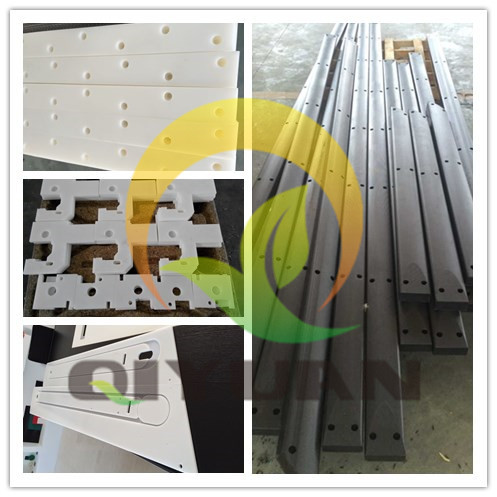 Abrasion Resistance uhmwpe rail guide/ chain guide, Conveyor system UHMW-PE plastic chain guide curves