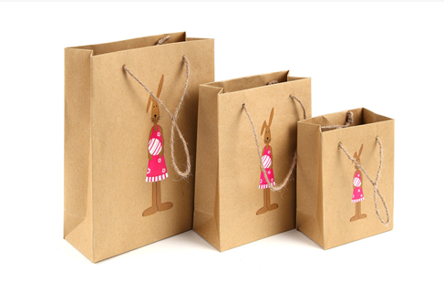 Recycle Shopping Gift paper kraft bag/paper bag kraft With Handles