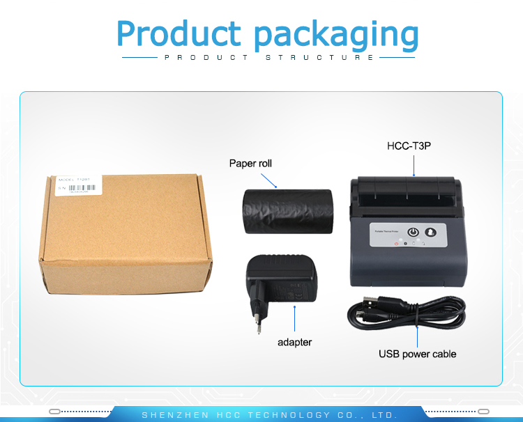 Receipt Ticket Bill Printing 80mm Portable Mini WIFI Thermal Printer HCC-T3P-W