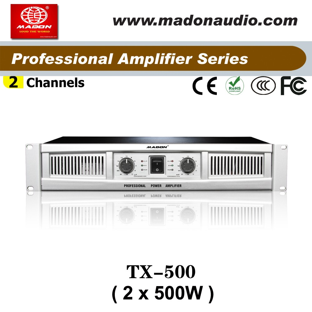 TX-500 Class AB amplifier 2channels output 500W meeting power amplifiers