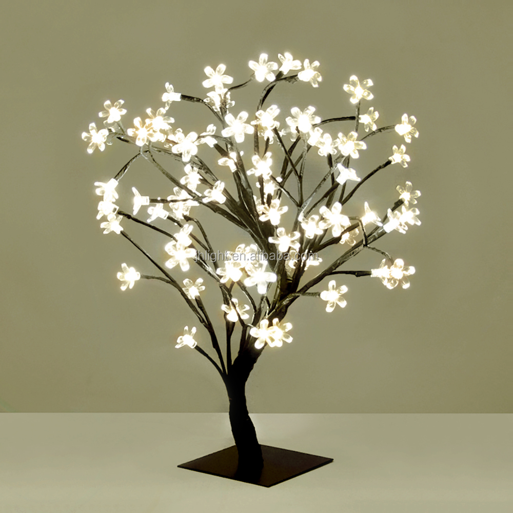 48l Warm White Christmas Led Tree Lights With Cherry Blossom ...