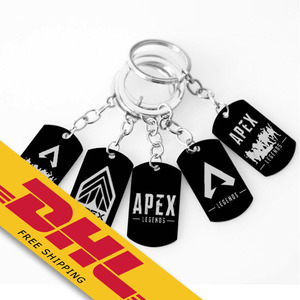 Apex Legends Metal Keychains Symbol Logo Stainless Steel Souvenir Key Ring Key Organizer Holder Bag Decoration Video Game Gifts
