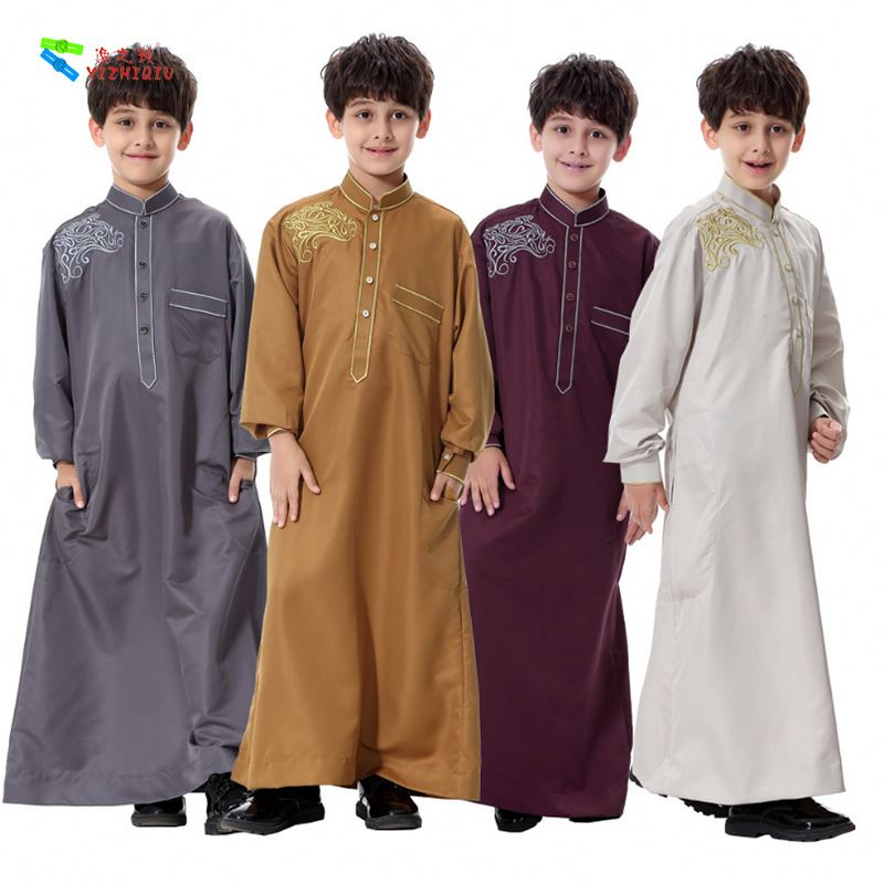YIZHIQIU Middle Eastern Arab Children Robes Youth Tang suit Muslim Men Clothing