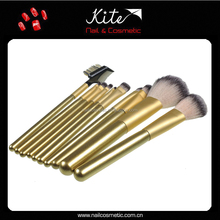 Professional makeup brush factory with natural hair make up brush set wholesale