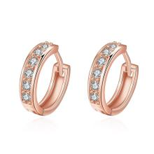 Sale Gold Plated Hoop Earrings For Women Bijou CC Earring CZ Cubic Zirconia Earings