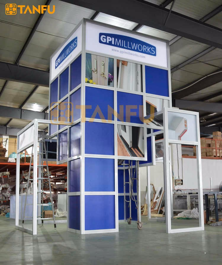 Tanfu 10 X 10 Or 3 X 3 Aluminum Tradeshow Display Booth For Expo