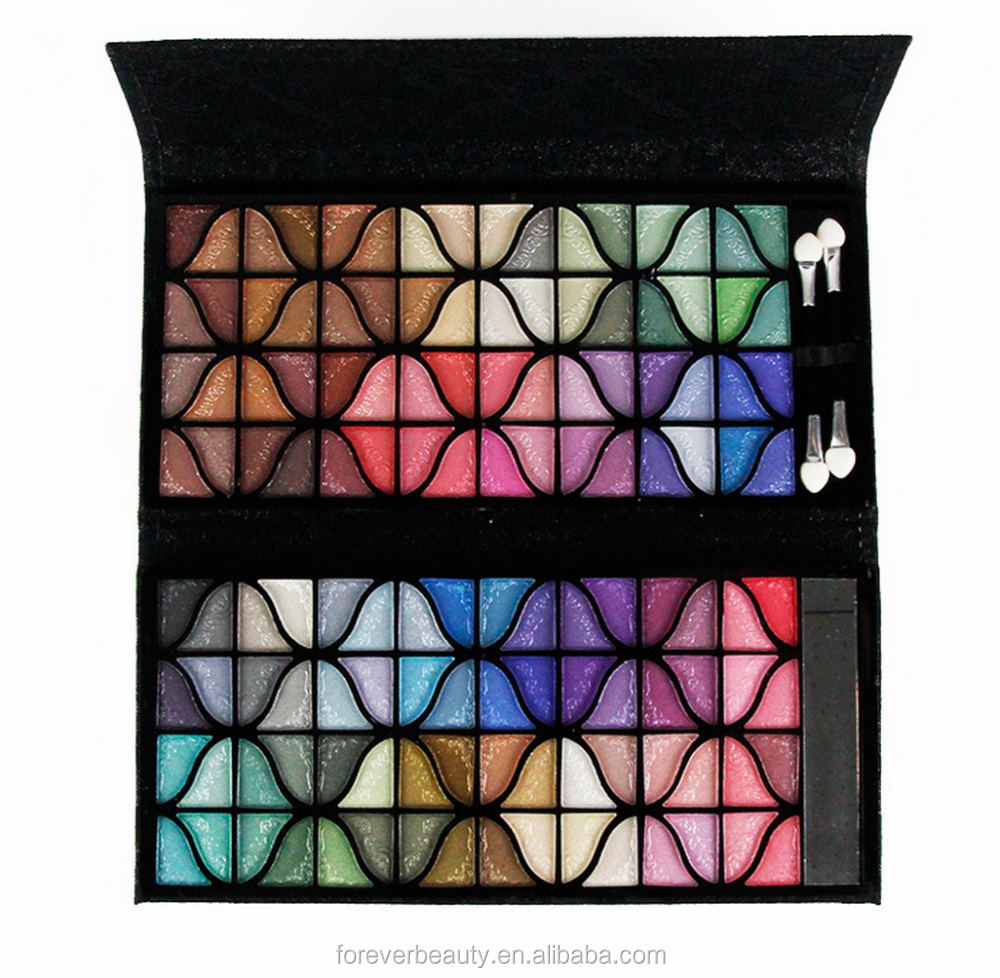 Hot sale high quality 128 full colors branded eyeshadow makeup palettes wholesale makeup lots