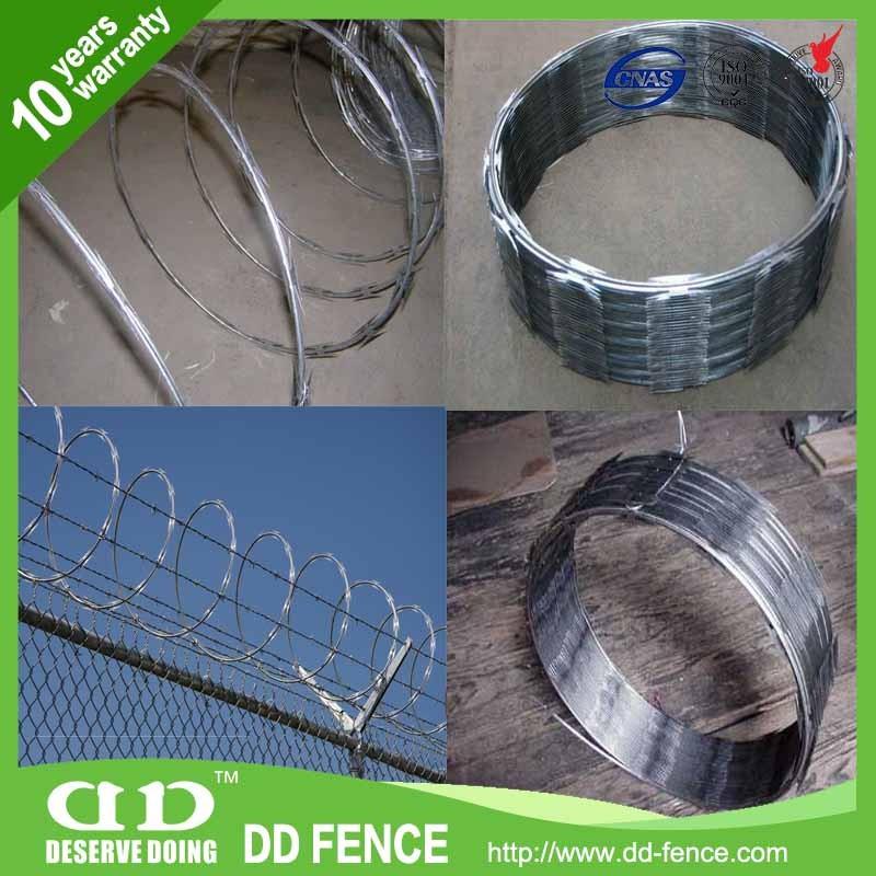 Pvc Razor Barbed Wire Mesh Bronze Coated Tyre Bead Wire Swg ...