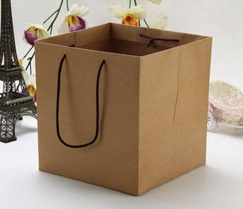 Flowers gift bag packaging natural brown kraft paper packaging flowers gift bag packaging natural brown kraft paper packaging bags eco shopping bag fruit mightylinksfo